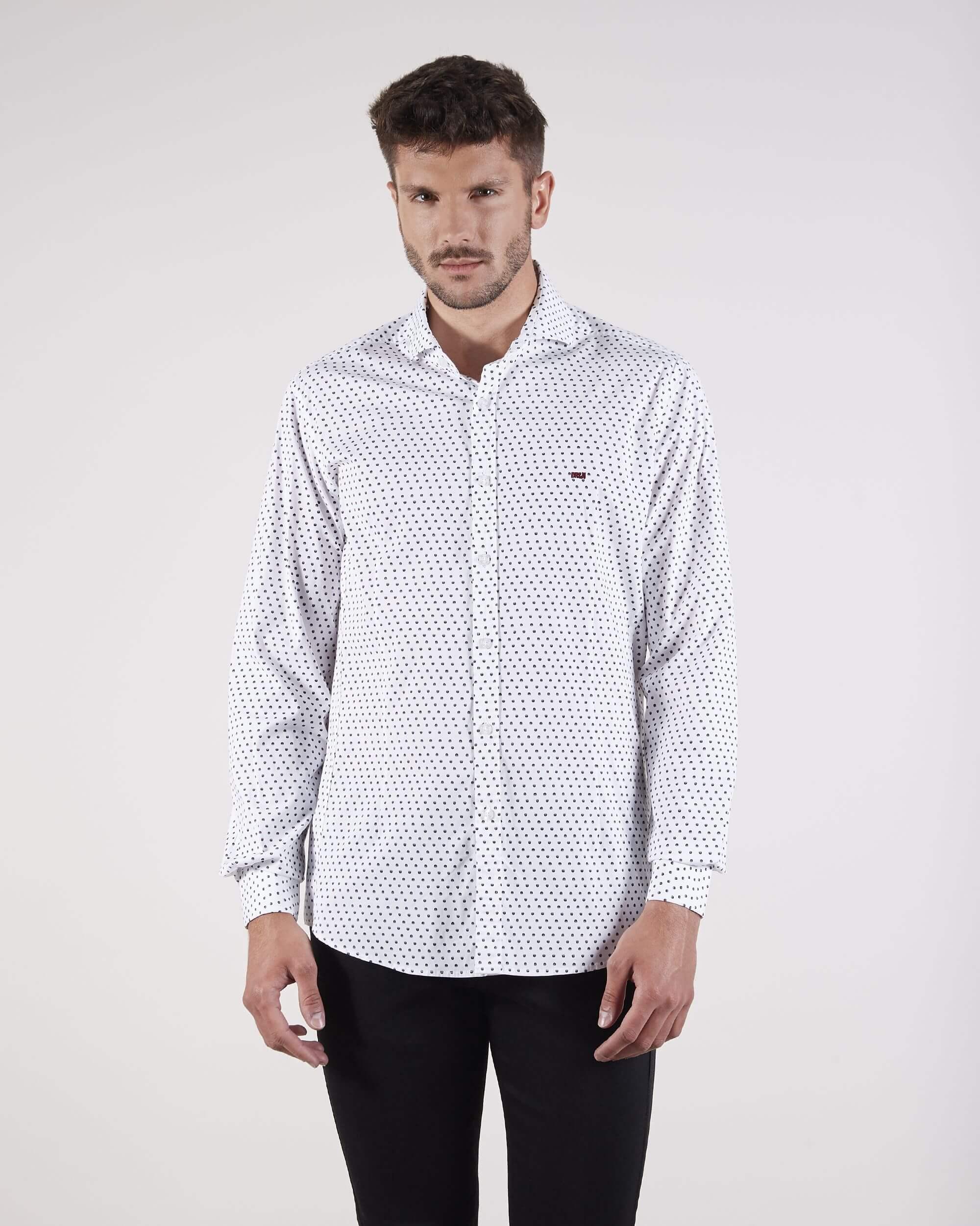 Camisa estampada blanca
