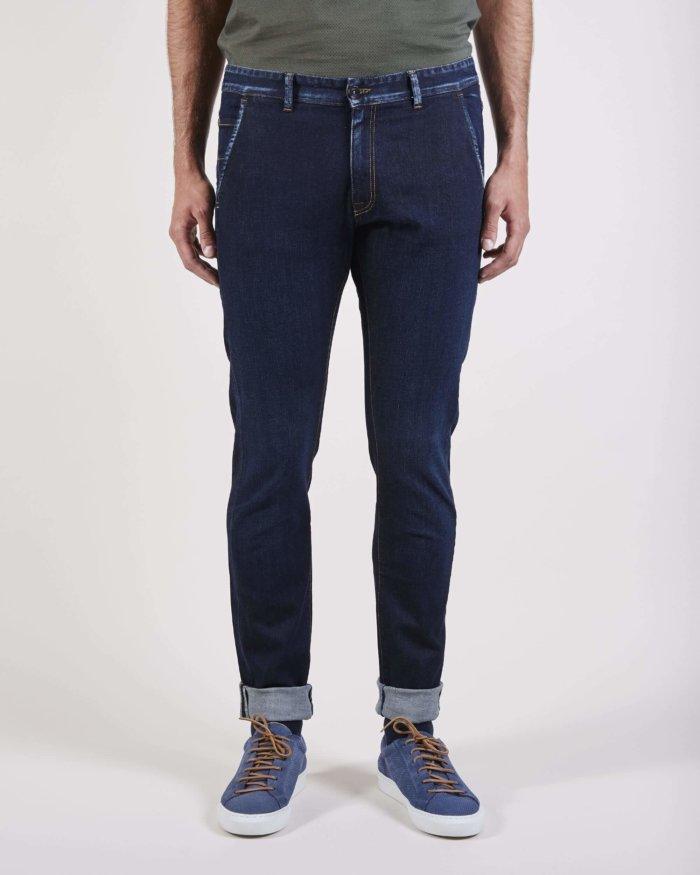Pantalón combinado azul
